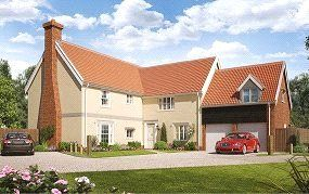 Thumbnail 5 bed detached house for sale in Birch Gate, Silfield Road, Wymondham, Norfolk