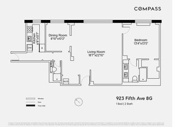 Thumbnail 1 bed property for sale in 923 Fifth Avenue, New York, New York State, United States Of America