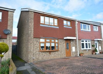 Thumbnail 3 bedroom end terrace house for sale in Owletts Hall Close, Hornchurch