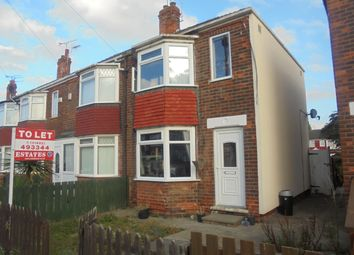 Thumbnail 2 bedroom semi-detached house to rent in Brendon Avenue, Hull