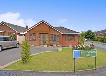 Thumbnail 3 bed detached bungalow for sale in Stoneyfields Close, Cannock, Staffordshire