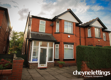 Thumbnail 3 bedroom semi-detached house to rent in Ashburn Road, Stockport