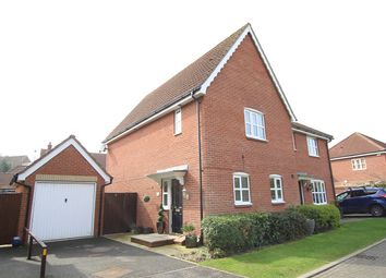 Thumbnail 3 bed semi-detached house for sale in Firtree Lane, Claydon, Ipswich, Suffolk