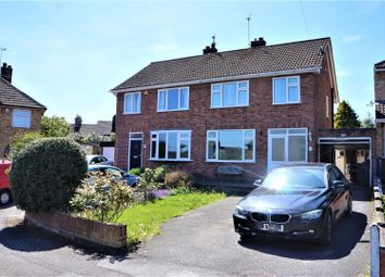 Thumbnail 3 bed semi-detached house for sale in Charles Drive, Anstey, Leicester