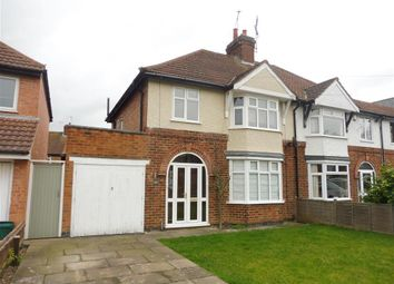 Thumbnail 3 bed semi-detached house to rent in Southfields Avenue, Oadby, Leicester