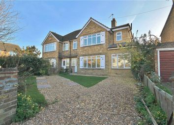 Thumbnail 4 bed semi-detached house for sale in Oaks Road, Stanwell, Staines