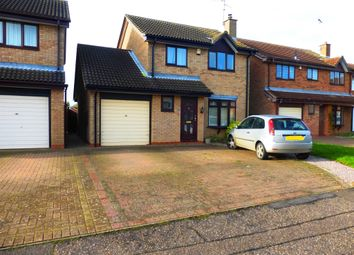 Thumbnail 3 bed detached house for sale in Keswick Close, Peterborough