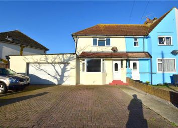 Thumbnail 2 bed semi-detached house for sale in Orient Road, Lancing, West Sussex
