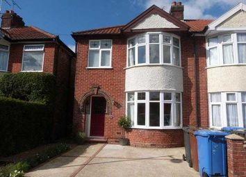 Thumbnail 3 bedroom semi-detached house to rent in Gordon Road, Ipswich