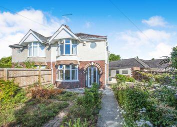 Thumbnail 3 bedroom semi-detached house for sale in Crossways Avenue, Swindon, Wiltshire