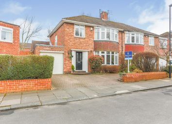 Thumbnail 3 bed semi-detached house for sale in Burnside Road, Newcastle Upon Tyne