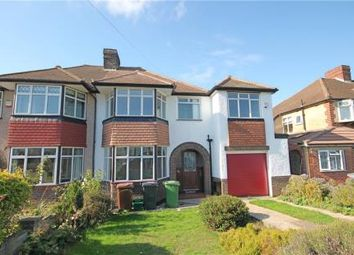 Thumbnail 4 bed semi-detached house for sale in Newbury Gardens, Stoneleigh, Epsom