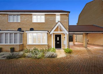 Thumbnail 3 bed semi-detached house for sale in Maltings Close, Flitch Green, Dunmow, Essex