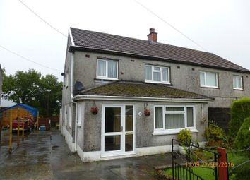 Thumbnail 3 bed semi-detached house for sale in Penyrallt Garnant, Ammanford, Carmarthenshire.