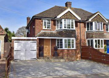 Thumbnail 3 bed semi-detached house for sale in Wimbourne Drive, Rainham, Gillingham, Kent