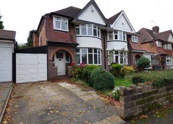 Thumbnail 3 bed semi-detached house for sale in Edenbridge Road, Hall Green, Birmingham, West Midlands