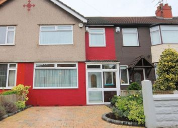 Thumbnail 3 bed terraced house for sale in Pitville Avenue, Mossley Hill, Liverpool