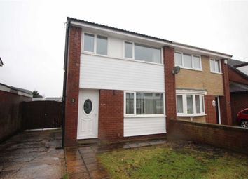 Thumbnail 3 bed semi-detached house for sale in Crediton Drive, Platt Bridge, Wigan