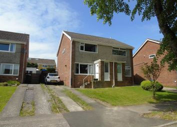 Thumbnail 2 bed semi-detached house for sale in Clos Crucywel, Cwmrhydyceriw, Morriston