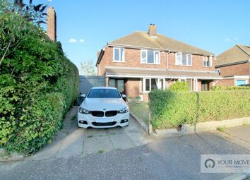 Thumbnail 3 bed semi-detached house for sale in Old Church Road, Hopton, Great Yarmouth