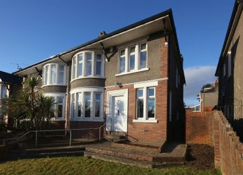 Thumbnail 4 bed semi-detached house for sale in Lake Road West, Cyncoed, Cardiff