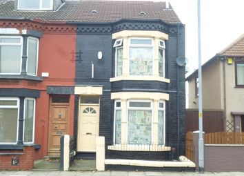 Thumbnail 3 bed end terrace house for sale in Marsh Lane, Bootle