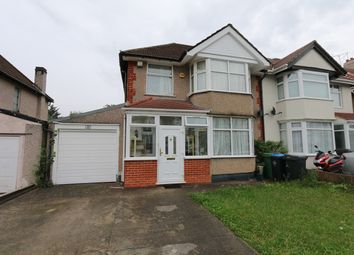 Thumbnail 3 bed semi-detached house to rent in Logan Road, Wembley