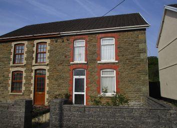 Thumbnail 2 bed semi-detached house for sale in Rhiw Road, Rhiwfawr, Swansea.