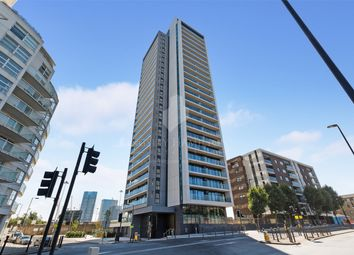 Thumbnail 1 bed flat for sale in Horizons Tower, Yabsley Street, London, United Kingdom