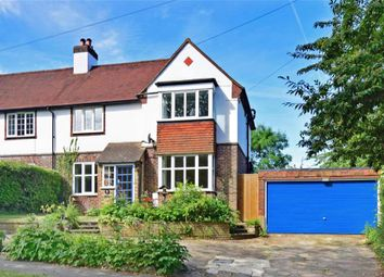 Thumbnail 4 bed semi-detached house for sale in Green Curve, Banstead, Surrey