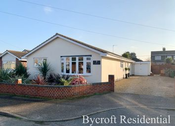 Thumbnail 4 bed detached bungalow for sale in Sandpiper Close, Bradwell, Great Yarmouth