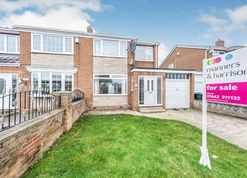 Thumbnail 3 bed semi-detached house for sale in Larkspur Road, Marton-In-Cleveland, Middlesbrough