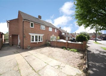 Thumbnail 4 bed semi-detached house for sale in Culworth Close, Caddington, Luton
