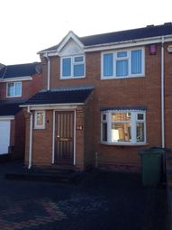 Thumbnail 3 bed semi-detached house to rent in Honeybourne Way, Willenhall