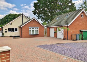 Thumbnail 3 bed detached bungalow for sale in Manor Road, Newton St. Faith, Norwich