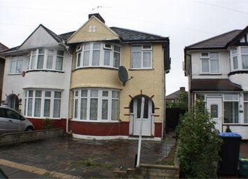 Thumbnail 3 bed semi-detached house for sale in Sandhurst Road, Kingsbury, London