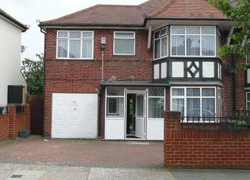 Thumbnail 5 bed semi-detached house to rent in Sedgecombe Avenue, Kenton, Harrow