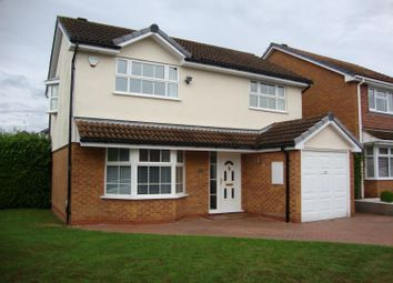Thumbnail 4 bed detached house to rent in Bufferys Close, Solihull