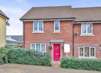 Thumbnail 3 bedroom end terrace house for sale in Woodpecker Way, Costessey, Norwich, Norfolk