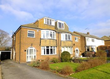 Thumbnail 4 bed semi-detached house for sale in Primley Park View, Alwoodley, Leeds