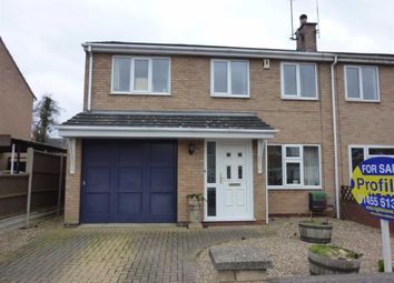 Thumbnail 3 bed semi-detached house for sale in Kirby Close, Sapcote, Leicester