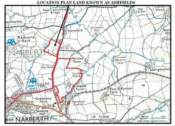 Thumbnail Land for sale in 11 Acres Or Thereabouts, Known As Ashfields, Narberth, Pembrokeshire