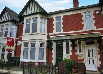 Thumbnail 4 bed terraced house to rent in Marlborough Road, Roath, Cardiff