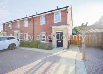 Thumbnail 2 bed end terrace house for sale in Bartlett Drive, Hempsted, Peterborough