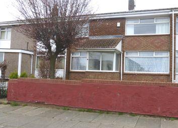 Thumbnail 3 bedroom terraced house to rent in Eddleston Walk, Hartlepool