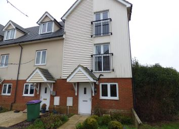 Thumbnail 4 bed end terrace house to rent in Page Road, Hawkinge, Folkestone