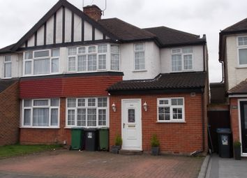 Thumbnail 5 bed semi-detached house to rent in Balmoral Road, Watford