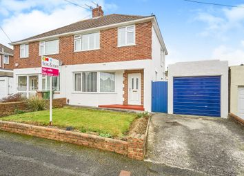 Thumbnail 3 bed semi-detached house for sale in Courtland Crescent, Plympton, Plymouth