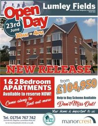 Thumbnail 2 bed flat for sale in Lumley Fields, Churchill Avenue, Skegness, Lincolnshire