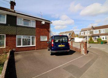 Thumbnail 3 bed semi-detached house for sale in Cardigan Close, Tonteg, Pontypridd